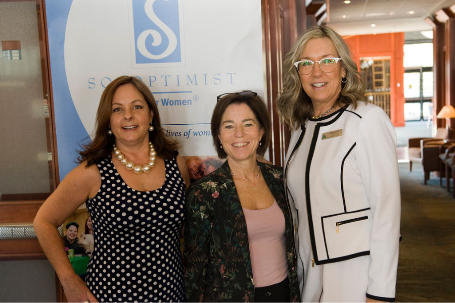 Image of 3 women in politics at the soroptimist give her wings brunch